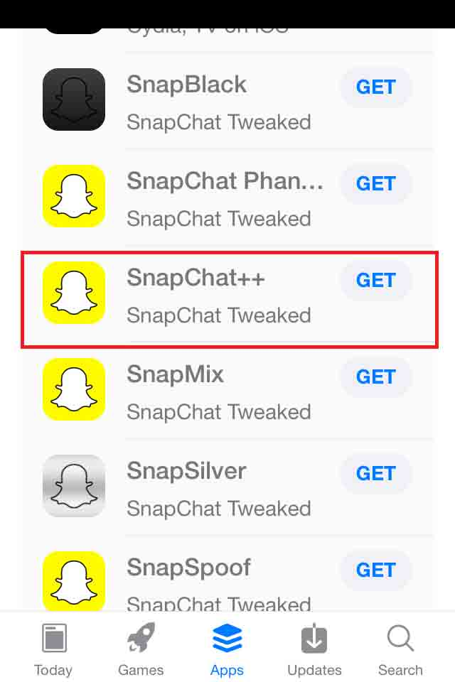 Snapchat plus for iOS
